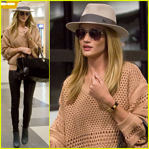 Rosie Huntington-Whiteley: LAX After Great Photo Shoot Day!