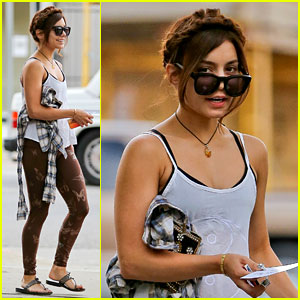 Vanessa Hudgens: Butterfly Leggings at Pilates Class!
