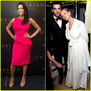 Zachary Quinto & Rosario Dawson: Cannes Party People!