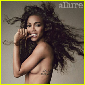 Zoe Saldana: Topless for 'Allure' Cover Spread June 2013