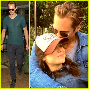 Alexander Skarsgard & Ellen Page Embrace During 'East' Promotion