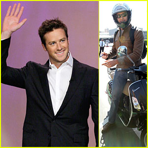 Armie Hammer: Motorcycle Rider After 'Leno' Appearance!