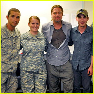 Brad Pitt & Shia LaBeouf Visit Fort Irwin to Prep for 'Fury'