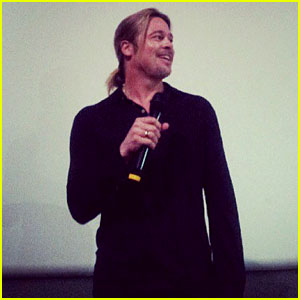 Brad Pitt Surprises Fans at 'World War Z' Screening in London!