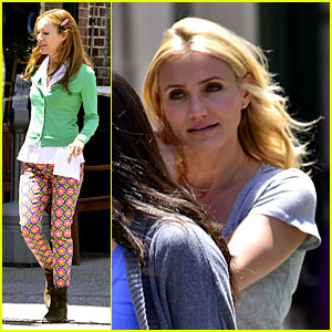 Cameron Diaz & Leslie Mann: 'The Other Woman' Set Stroll!