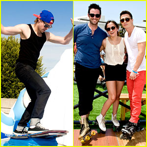 Chord Overstreet: Surfs Up at Just Jared's Summer Kick-Off Party with Colton Haynes!