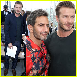 David Beckham: Louis Vuitton Paris Show with Marc Jacobs!