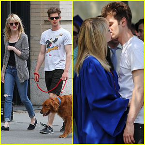 Emma Stone & Andrew Garfield: 'Spider-Man' Break Kisses!