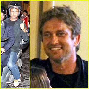Gerard Butler: Italian Dinner with Friends!