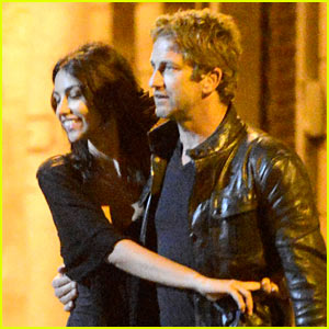 Gerard Butler & Madalina Ghenea: Rome Date Night Out!