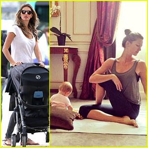 Gisele Bundchen Visits the Louvre with Vivian After Yoga Day!