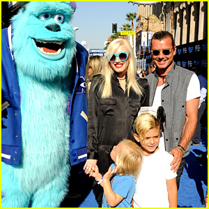 Gwen Stefani & Gavin Rossdale: 'Monsters University' Premiere with the Kids!