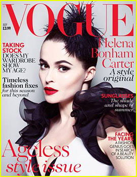 Helena Bonham Carter Covers 'British Vogue' July 2013