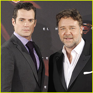 Henry Cavill & Russell Crowe: 'Man of Steel' Madrid Premiere!