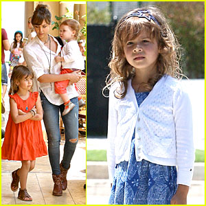 Jessica Alba & Cash Warren: Honor's Kindergarten Graduation Lunch!