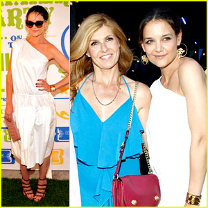 Katie Holmes & Connie Britton: Coach's High Line Summer Party!