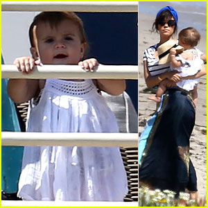 Kourtney Kardashian Hits the Beach After Kim's Baby is Born!