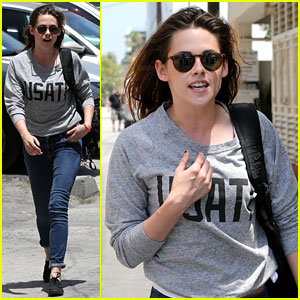 Kristen Stewart: Office Building Stop on Thursday