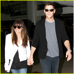 Lea Michele & Cory Monteith Hold Hands at LAX Airport