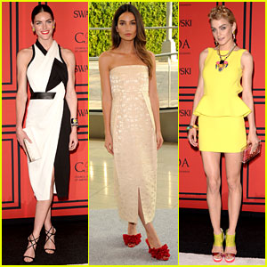Lily Aldridge & Hilary Rhoda - CFDA Fashion Awards 2013