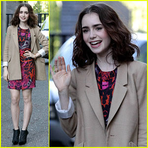 Lily Collins: ITV Studios Visit for 'Lorraine' Appearance!
