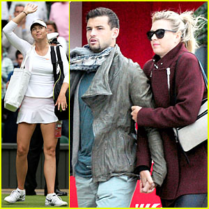 Maria Sharapova & Grigor Dimitrov Hold Hands During Wimbledon First Rounds!