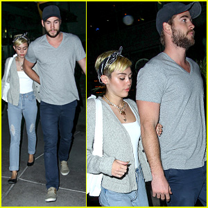 Miley Cyrus & Liam Hemsworth Hold Hands on Movie Date!