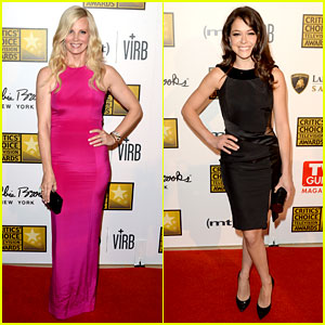 Monica Potter & Tatiana Maslany - Critics' Choice TV Awards 2013