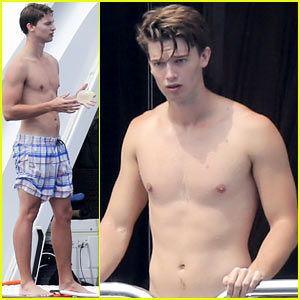 Patrick Schwarzenegger: Shirtless St. Tropez Vacation Continues!