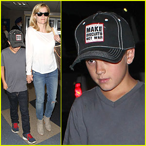 Reese Witherspoon & Deacon: LAX Landing After Father's Day!