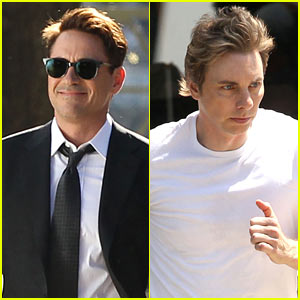 Robert Downey, Jr. & Dax Shepard Film 'Judge' in Massachusetts