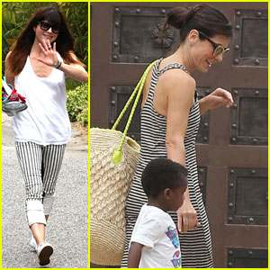 Sandra Bullock & Selma Blair: Birthday Party with the Boys