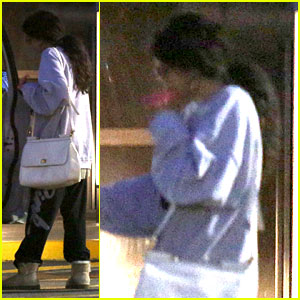 Selena Gomez Visits New Baby Sister in the Hospital