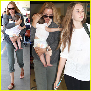 Uma Thurman: LAX Depature with Luna & Maya!