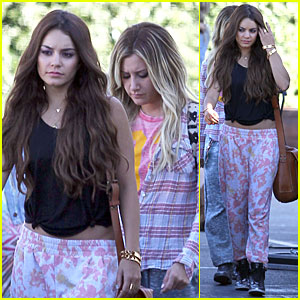 Vanessa Hudgens & Ashley Tisdale: Los Angeles Filming Duo!