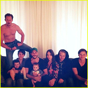Alexander Skarsgard: Shirtless in Family Portrait!