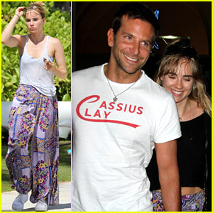 Bradley Cooper & Suki Waterhouse Arrive Back in Los Angeles