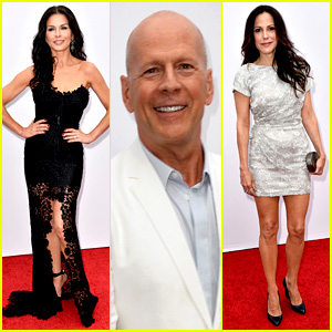 Catherine Zeta-Jones & Bruce Willis: 'Red 2' Premiere!