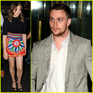 Chloe Moretz & Aaron Taylor-Johnson: 'Kick-Ass 2' Promo Work!