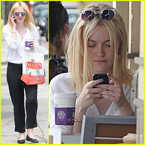 Dakota Fanning Caffeinates at Coffee Bean