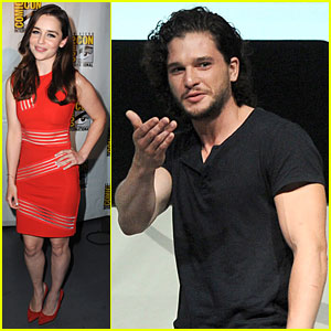 Emilia Clarke & Kit Harington: 'Game of Thrones' at Comic-Con!