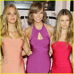Behati Prinsloo & Erin Heatherton: Body by Victoria Celebration!