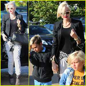 Gwen Stefani Dines at Nobu with Kingston & Zuma!