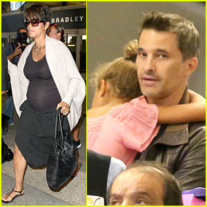 Halle Berry & Olivier Martinez: LAX Arrival After Wedding!