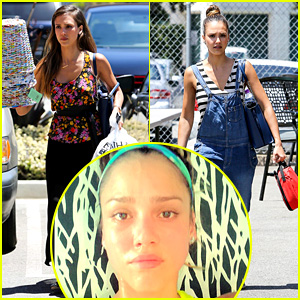 Jessica Alba Shows Off Her Post Workout, No Makeup Look