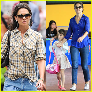 Katie Holmes & Suri Hold Hands Before Gymnastics!