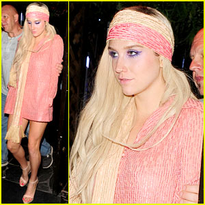 Ke$ha Parties at Maliki After Glittered Up Concert
