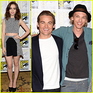 Lily Collins & Jamie Campbell Bower: 'City of Bones' at Comic-Con
