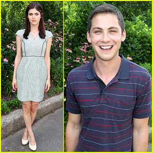 Logan Lerman & Alexandra Daddario: 'Percy Jackson' Press Day