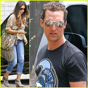 Matthew McConaughey & Camila Alves Step Out Before July 4